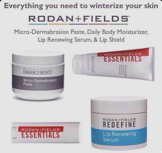 Winter is coming. I'm always getting chapped hands & red irritated skin during this time. I've tried it all and it just doesn't do it like Rodan + Fields products. Trust me you need these products!!!