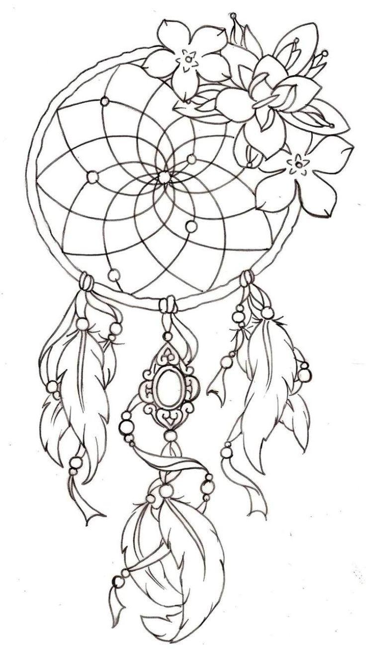 le dreamcatcher est une idée de tatouage très moderne