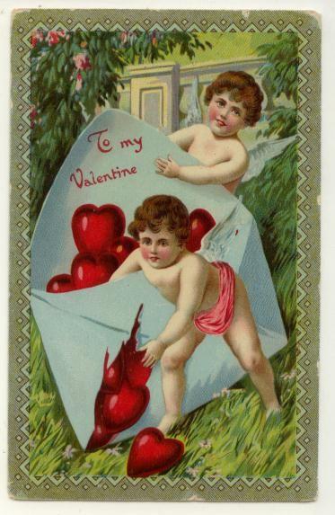 Free Vintage Valentine Cards: Cherubs