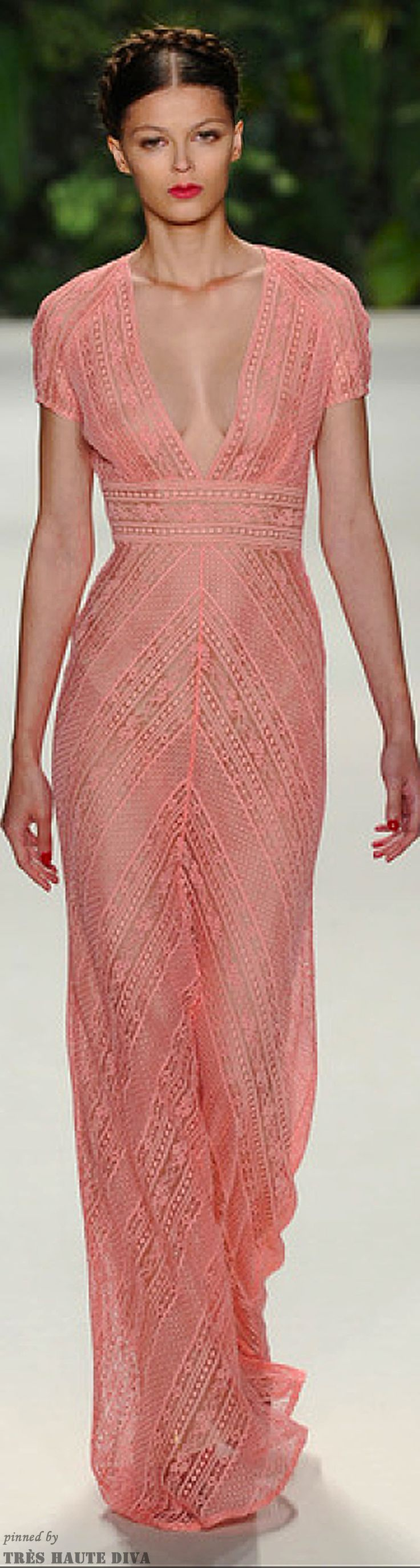 I would wear it in ivory or champaign for my wedding... Naeem Khan Spring 2014   ( The Gown Boutique )
