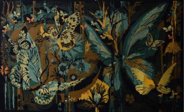 Hervé LELONG (né en 1937) Tapisserie. 140x220 cm
