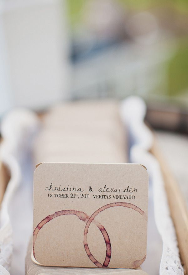 cute idea for a vineyard wedding!