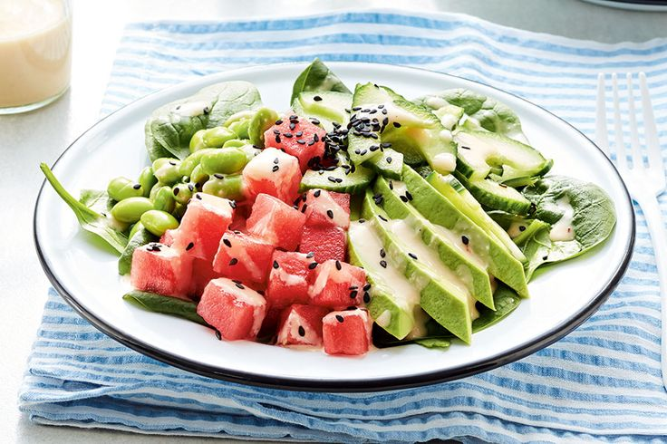 It's not a picnic without watermelon. We've swapped the tuna in a traditional Hawaiian poke bowl for sweet, juicy cubes of the fruit and turned up the heat with chipotle and fresh ginger. This recipe makes extra dressing, so you'll have plenty for your next salad.