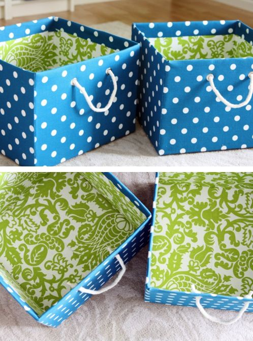 Decorative Fabric Boxes Diy Fabric Bins  The Frugal Female  Nest  Pinterest  Fabric