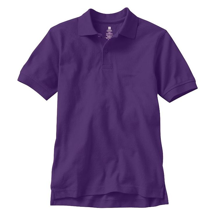 Boys 8-20 Chaps Solid Pique School Uniform Polo, Boy's, Size: 10, Drk Purple