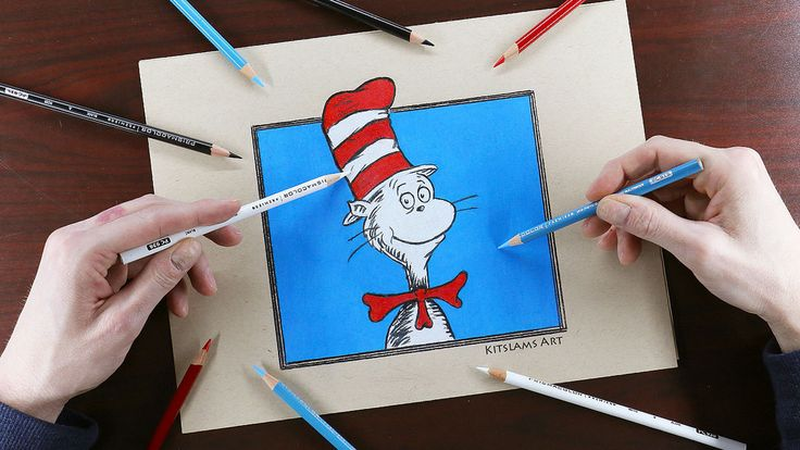 https://flic.kr/p/UeR1cx | Cat in the Hat Drawing with Both Hands | Video: https://www.youtube.com/watch?v=_tNf80lgV30