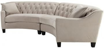 Riemann Curved Tufted Sectional  Home Decorators Collection. To save on this and anything from Home Decorators, contact me at Discount Designer Furnishings