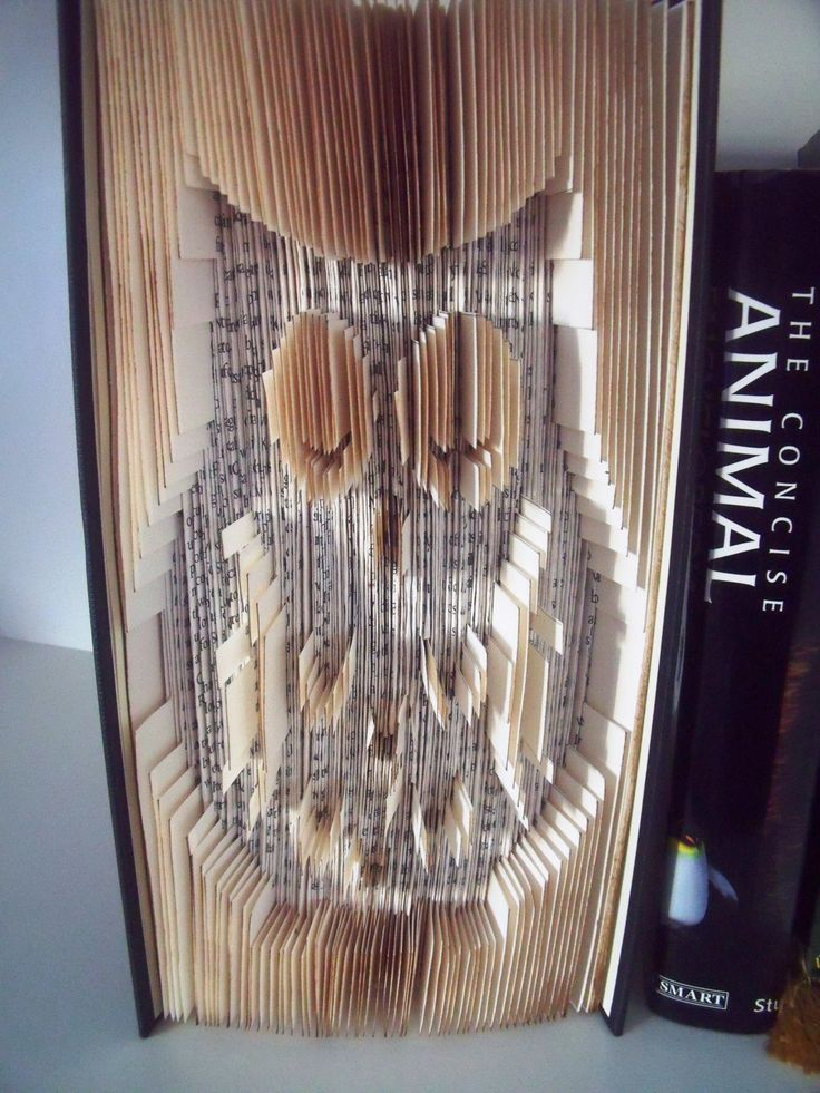 Birthday Gift - Book Art - Owl - Folded Owl Book - Book Ornament by CreationsByMEx on Etsy