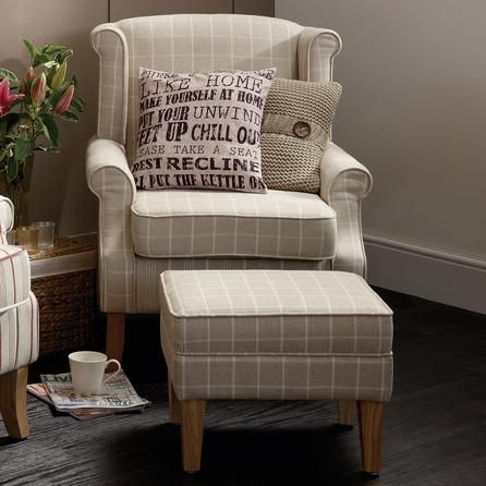 Natural Check Edinburgh Armchair Dunelm Chair Ideas