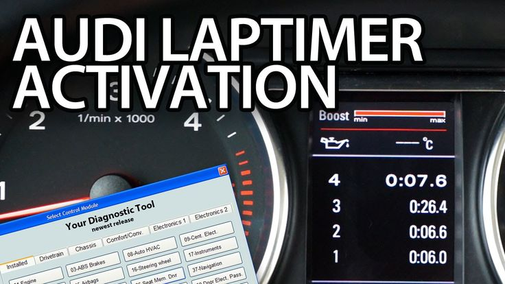 How to activate #Audi #laptimer, oil temp,. boost gauge #VCDS