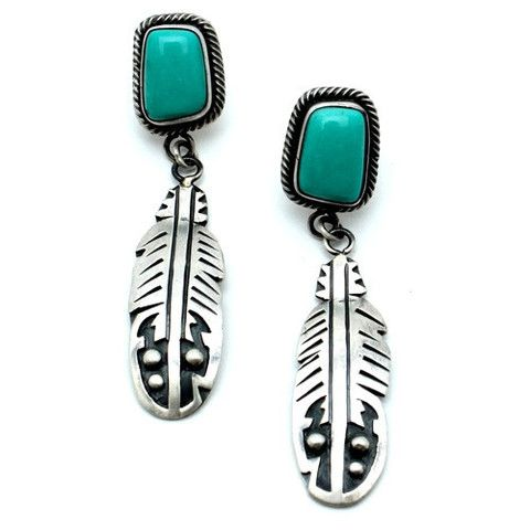 Native American Roped Turquoise Earring