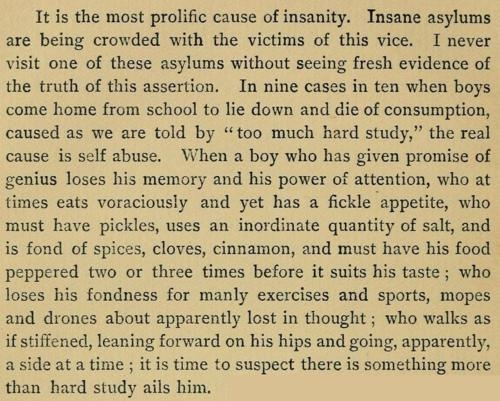"""a description of insanity and the causes of insannity 1879 moral & physical causes of insanity posted on august 15, 2012 by lsstuhler an interesting passage from the book, a manual of psychological medicine , published in england in 1879 by john charles bucknill and daniel hack tuke, lists the """" exciting or determining causes of insanity """" which are divided into moral and physical categories."""