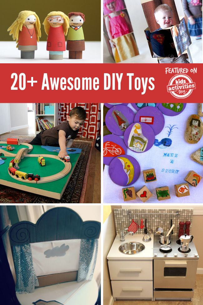 Awesome DIY toys for a homemade Christmas. Lots of ideas here!