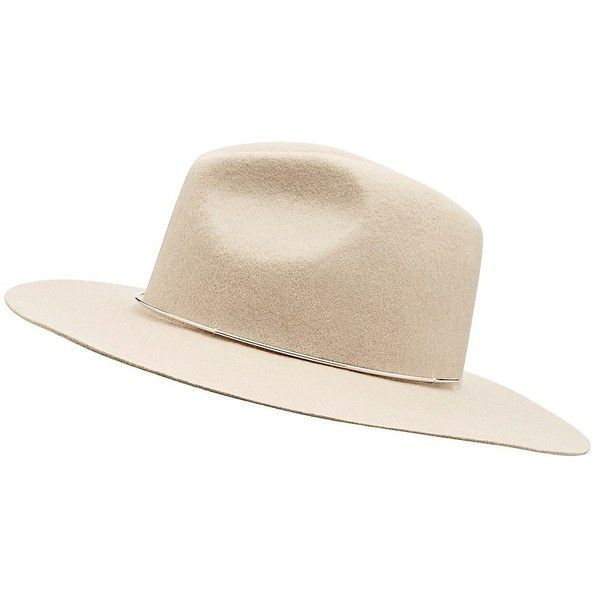 Witchery Flat Brim Fedora (110 BGN) ❤ liked on Polyvore featuring accessories, hats, felt hat, brimmed hat, felt fedora, flat brim hats and fedora hat