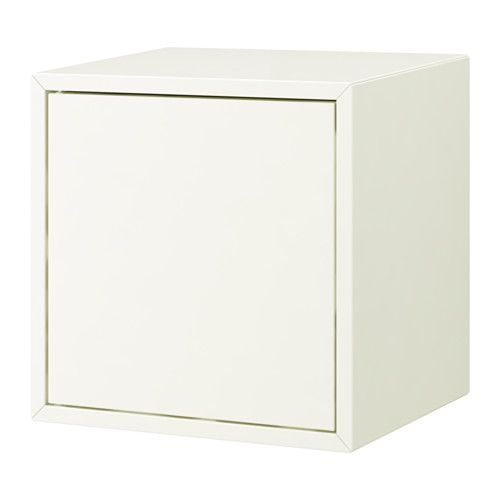 IKEA - VALJE, Wall cabinet with 1 door, white, , You can create your own unique solution by freely combining cabinets of different sizes, with or without doors and drawers.Assembly is quick and easy, thanks to the wedge dowel that clicks into the pre-drilled holes.
