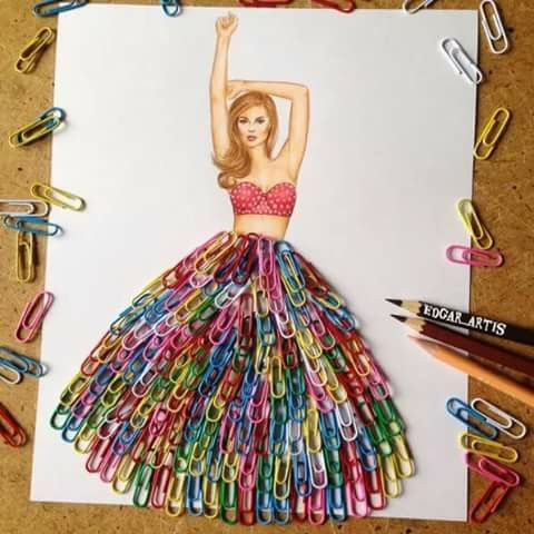 Paper Clip Skirt ~ WOW!