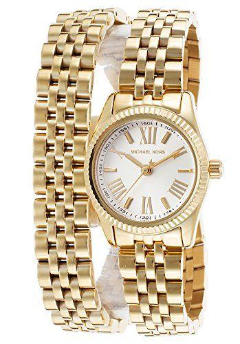 Michael Kors Lexington Petite Golden Double-Wrap Ladies Watch MK3269 *** Check out this great product.