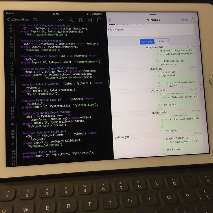 Added more capabilities to the #Ada binding of #python. I love this #git client alongside with this code editor on my iPad Pro.    #geek #nerd #wizard #travel #traveling #songkhla #thailand #work #play #holiday #computer #software #development #programmer #programming #code #coding #ava #ai #artificialintelligence #project