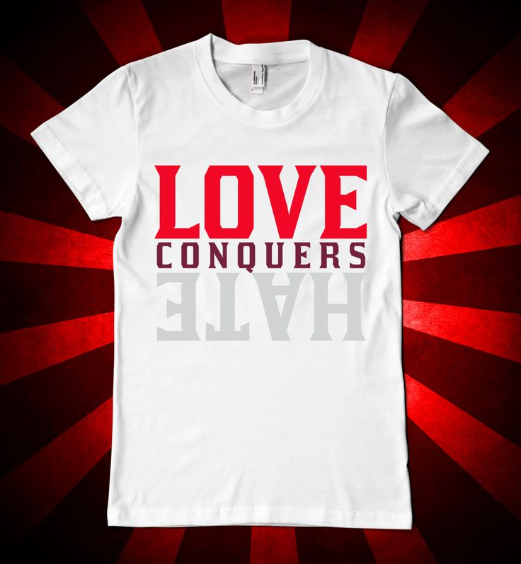 love conquers hate valentines day t shirt design