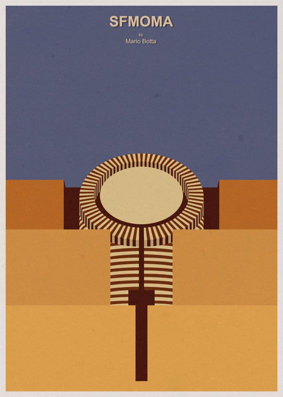 Andre Chiote - Architectural Poster Series - -SFMOMA