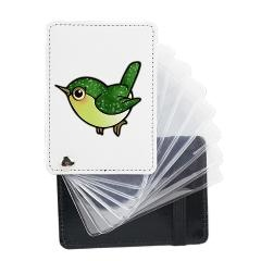 Cute Emerald Green Bird Leather Card Holder $29.99 #cute #bird #business