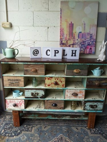 Vintage Industrial pigeon hole display shelves sideboard storage unit drawers http://www.ebay.com.au/itm/Vintage-Industrial-pigeon-hole-display-shelves-sideboard-storage-unit-drawers-/150999620695?pt=AU_CabinetsChests=item2328475c57&_uhb=1#