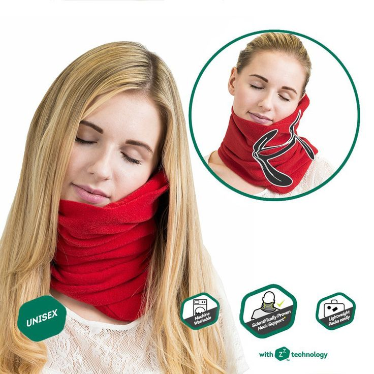 Travel household ultra-soft neck support pillow napping pillow -RED https://worldofarcadian.com