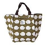 Mothers Day Waterproof Insulated Picnic Lunch Bag Aluminum Foil Insulated Cooler Bag Portable Tote Cooler Canvas Thermal Picnic Food Drinks Holder (Cute Hedgehogs)