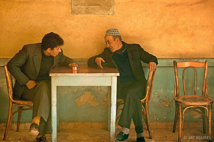 Jay Maisel - Two Men (Jerusalem). Or: how a good photograph makes you want to see the world.