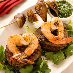 surf and turf | shrimp and steak | luxurious dining | steak dinner
