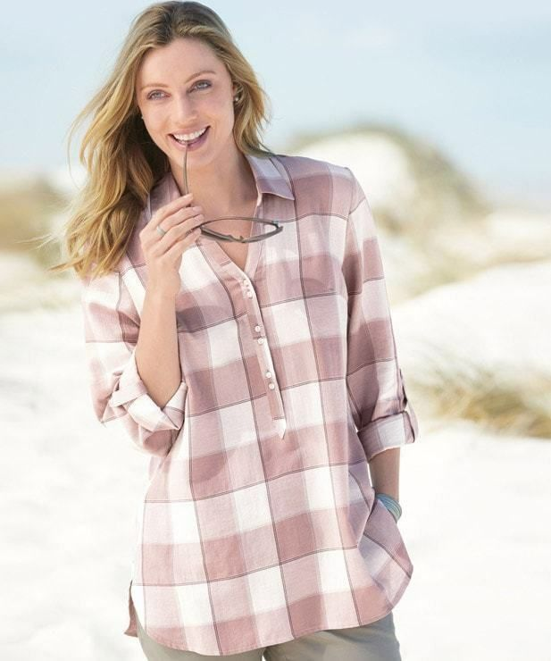 14548d814a Damart Check Shirt Nude Size UK 18 rrp 29 DH084 OO 03 #fashion #clothing  #shoes #accessories #womensclothing #tops (ebay link)