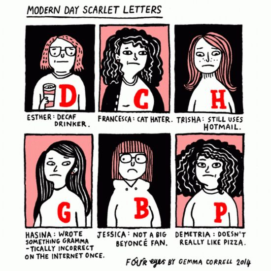 """""""Modern Day Scarlet Letters"""" [Comic]"""