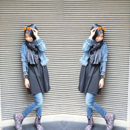 Hijab style | jeans | Casual