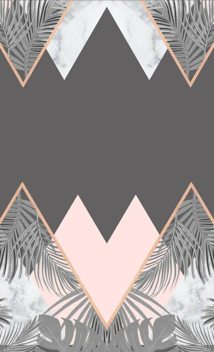 Geometric Iphone Wallpaper In 2019 Gold Wallpaper Rose