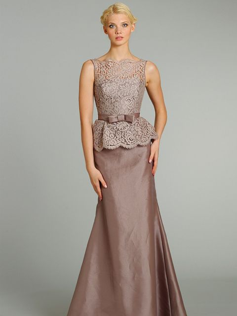 This elegant A-line Noir by Lazaro dress has a lovely organza fabric with a bateau neckline in a taupe shade of colour. Product code NZ3283.  View more Bridesmaid dresses from our JLM Couture Noir by Lazaro collection at: http://www.baroqueboutique.co.uk/bridesmaids/  Photographs courtesy of: http://www.jlmcouture.com/Noir-By-Lazaro