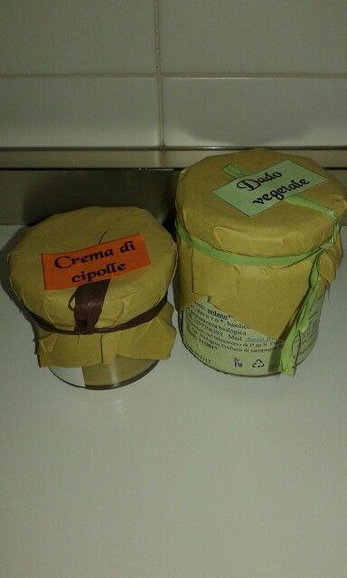 Crema di cipolle e dado vegetale biologici Az. Agricola Profumi di Campagna di Cimone di Trento