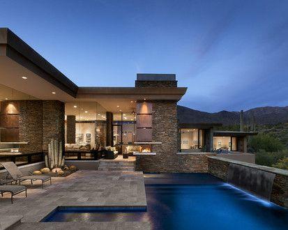 Pass Residence, Contemporary Pool, Phoenix