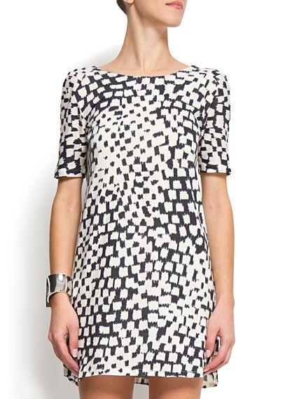 mango grafic printed dress $39.99