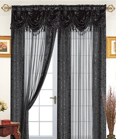 Love this Black Tango Curtain Panel and Valance on #zulily! #zulilyfinds
