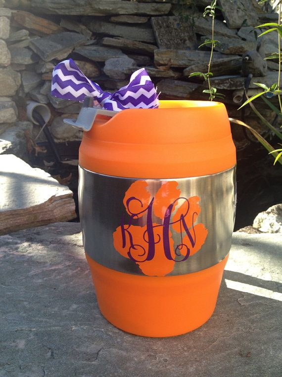 personalized monogrammed 52 oz clemson university tigers insulated bubba mug on etsy. Black Bedroom Furniture Sets. Home Design Ideas