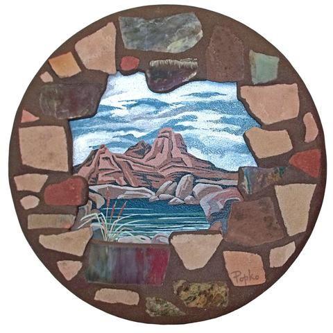 Susan Popko Granite Basin Lake Arizona Earth Art Pictograph
