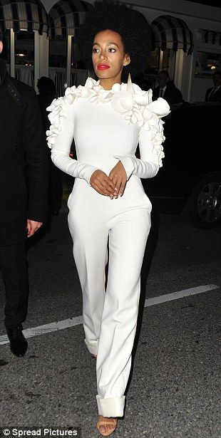White delight: Solange Knowles