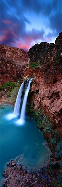 Beautiful waterfall - HAVASU FALLS, AZ, USA - Photography Ken Duncan.  His photographic images are absolutely beautiful... you must check out your website if your truly inspired by water fall (and other) images here on pinterest. #waterfalls