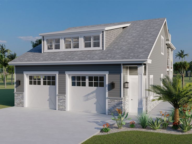 065g 0024 2 Car Garage Apartment Plan Pool House Plans Garage Apartment Floor Plans Garage Apartment Plans