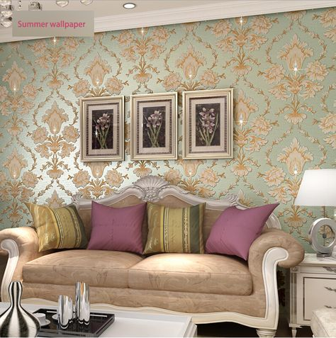 luxury series bright diamond 3d big flower wallpaper with high foaming good quality new design big promotion