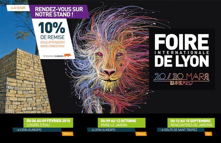 TENDANCE GABION EXPOSE A LA FOIRE INTERNATIONALE DE LYON