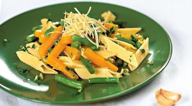 Салат из тыквы с макаронами
