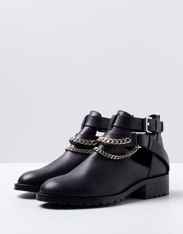 Bershka Macedonia -Bershka LEATHER ankle boots