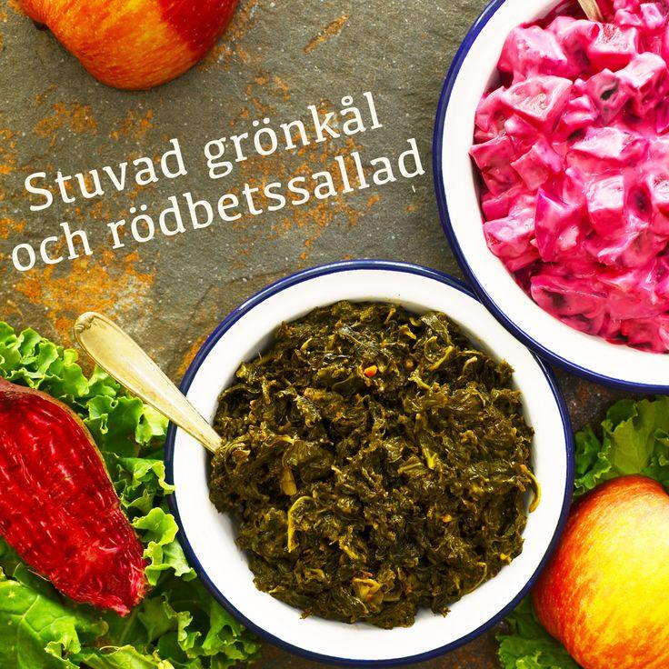 Göttbullar, brysselkål, stuvad grönkål och rödbetssallad är några av rätterna i vår julmeny! Recepten finns i meny 21. 😊❤️  www.allaater.se