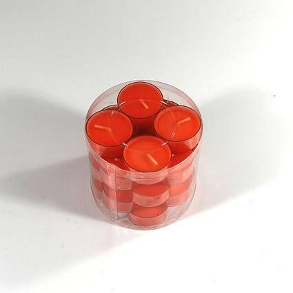 Orange fyrfadslys ser fantastiske ud, og kan bruges hele året rundt. Hos My Stone finder du et stort udvalg af kulørte fyrfadslys i gennemfarvet stearin.